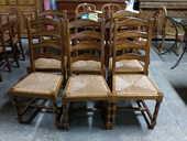 Lot de 6 chaises rustiques assises paillées 250 Toulouse (31)
