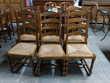 Lot de 6 chaises rustiques assises paillées Toulouse (31)