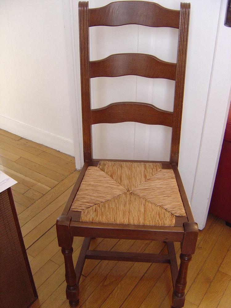 6 chaises rustiques en chêne 100 Paris 15 (75)