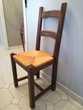 6 chaises rustiques orme/paille dorée Excellent état Marseille 4 (13)
