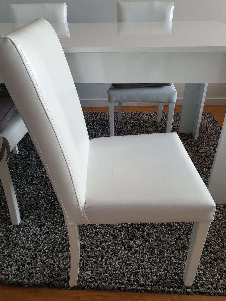 4 chaises de salon blanches 140 Villeurbanne (69)