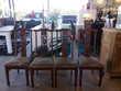 Lot de 4 chaises style asiatique