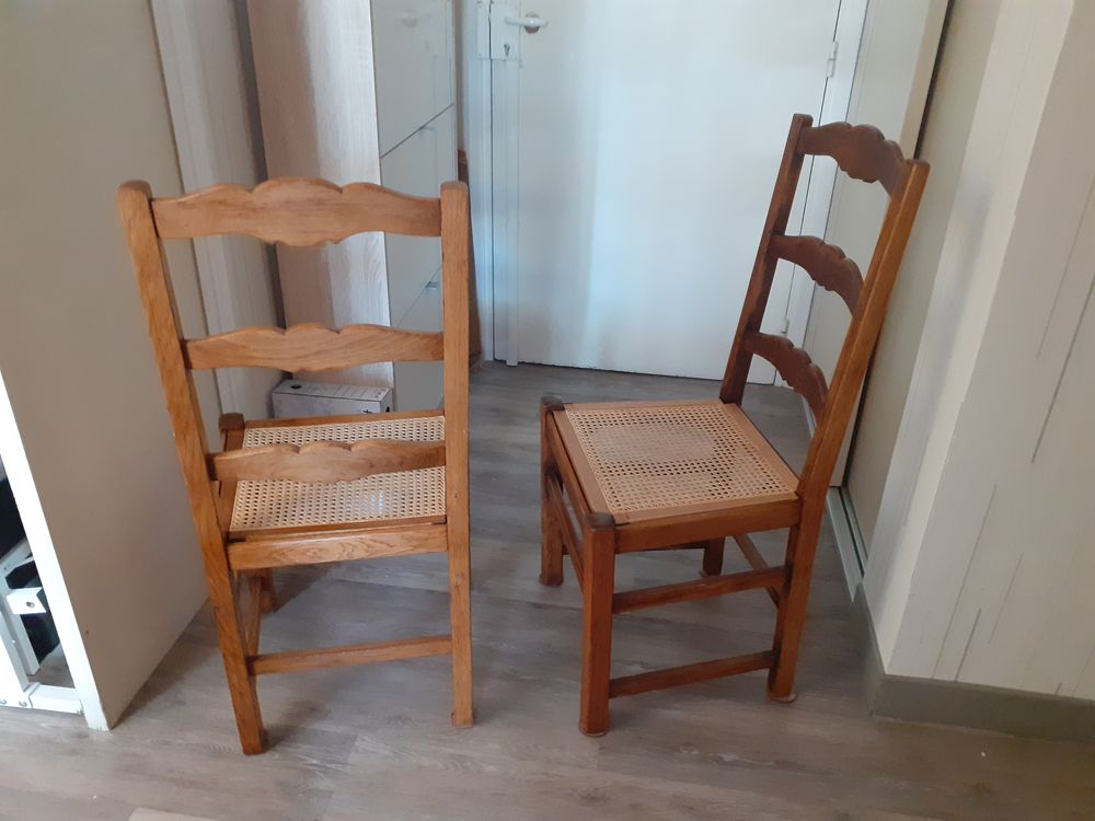 2 chaises style campagnard assise en cannage 60 Courbevoie (92)