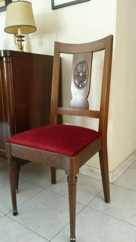lot de 6 chaises style empire acajou 300 Marseille 12 (13)