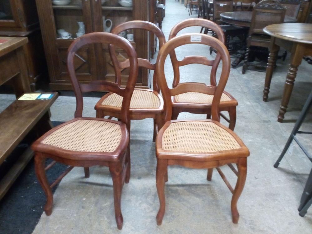 Lot De 4 Chaises Style Louis Philippe Assises Canneacute