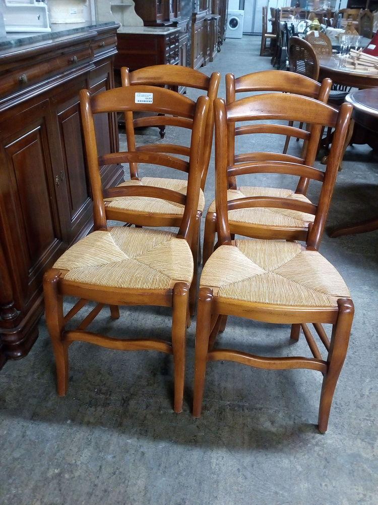 Lot de 4 chaises style Louis Philippe assises paillées 120 Toulouse (31)