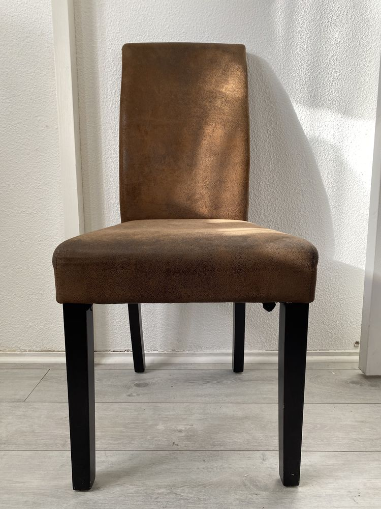 Lot 6 chaises suédine chocolat confortables  120 Fréjus (83)