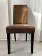 Lot 6 chaises suédine chocolat confortables