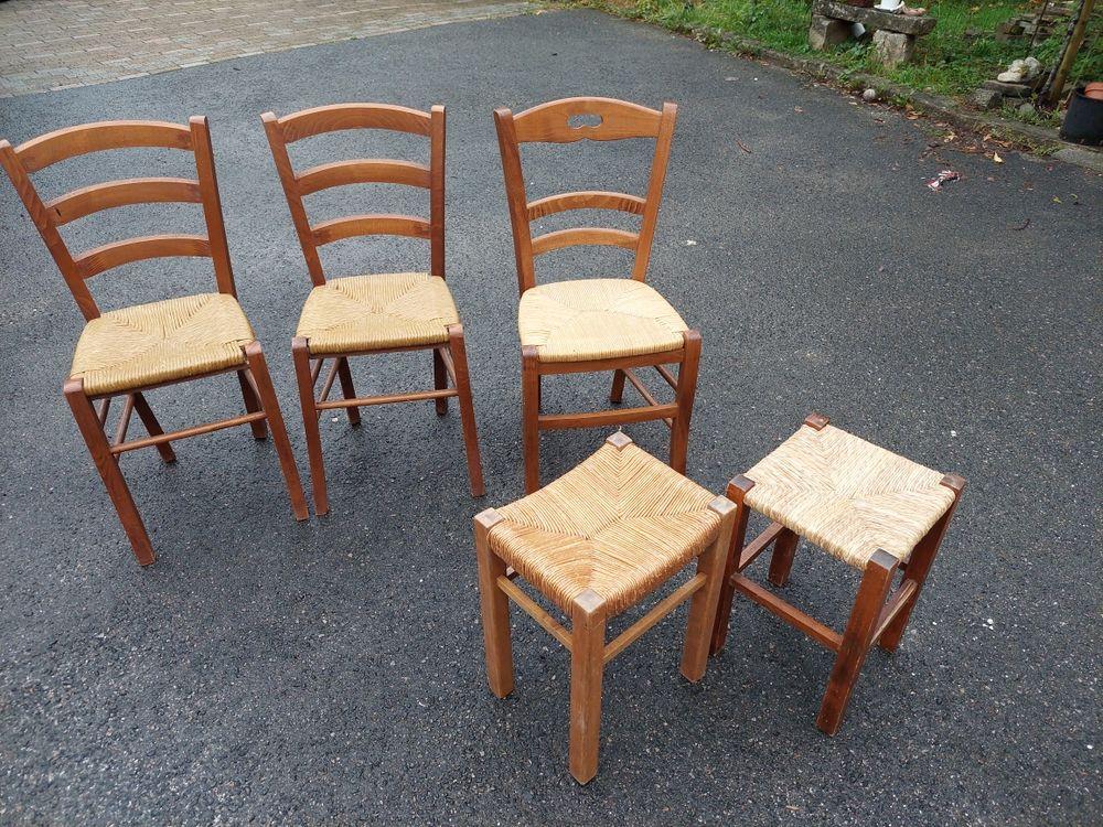 chaises tabourets paillés 60 Vaux-le-Pénil (77)