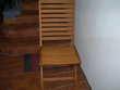 4 chaises en teck Meubles