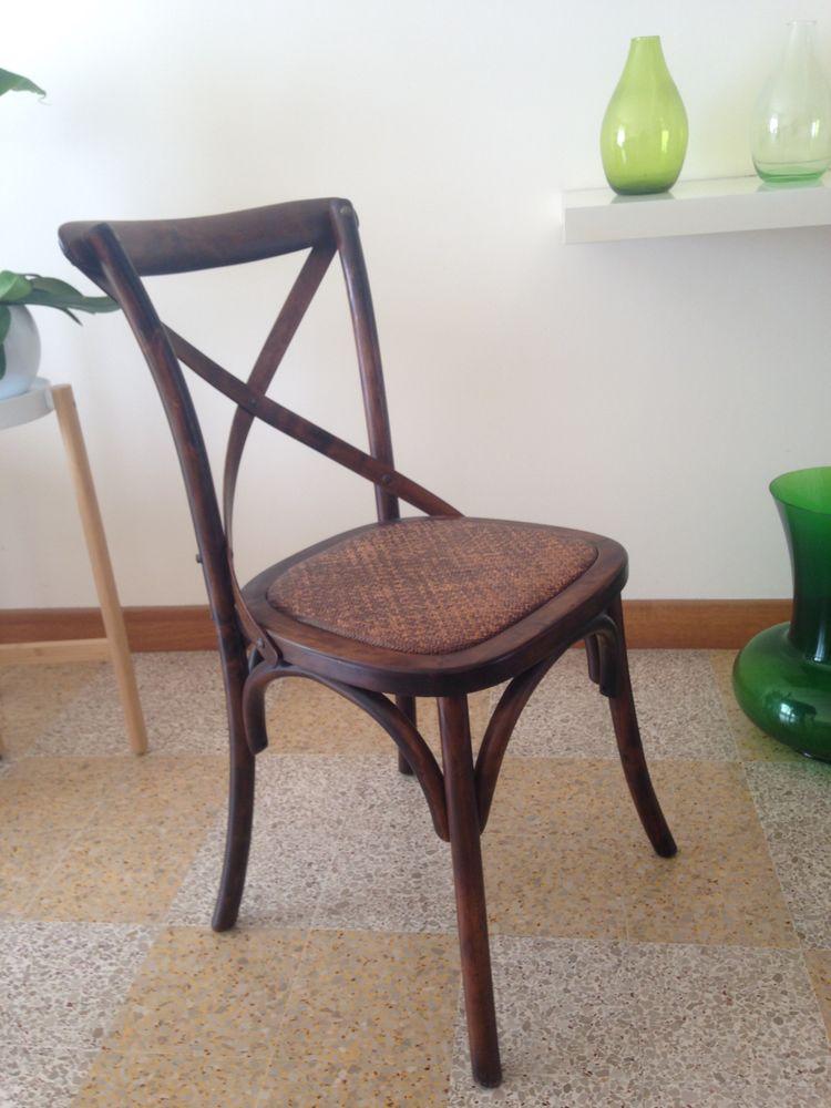 4 chaises thonet vintage design khon modele cross 400 Toulon (83)