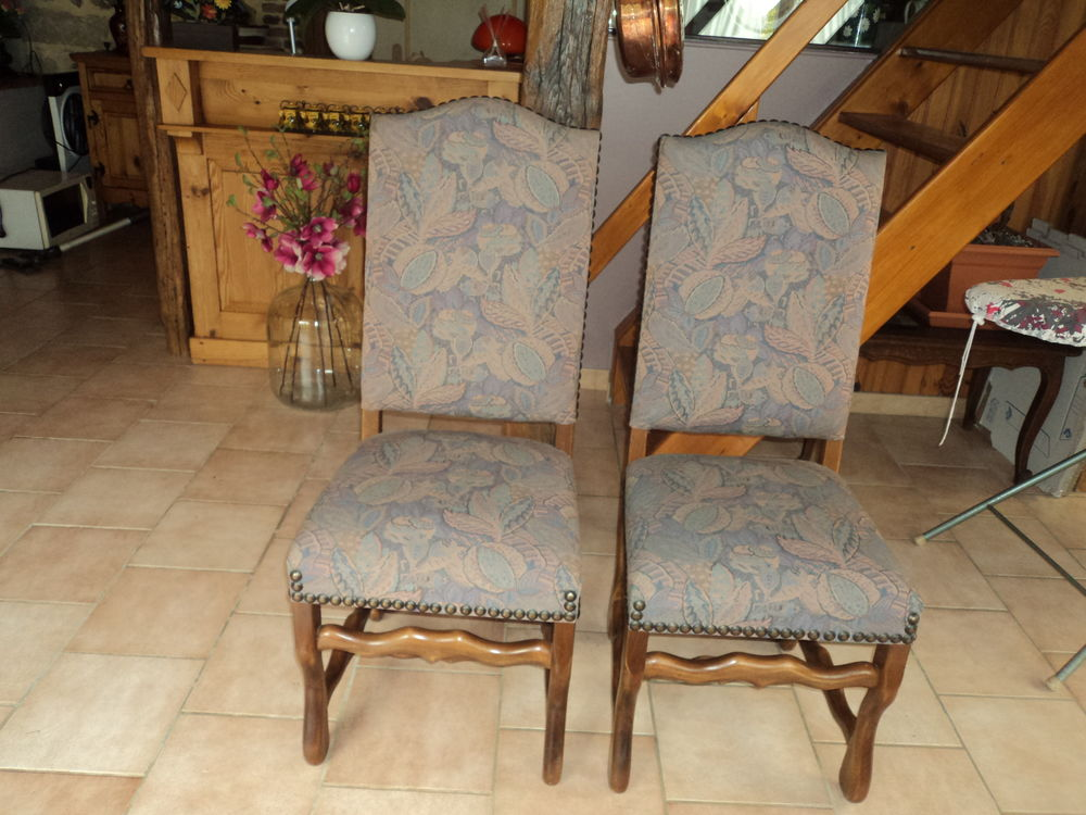 2 chaises  en tissus imprimés 50 Blennes (77)