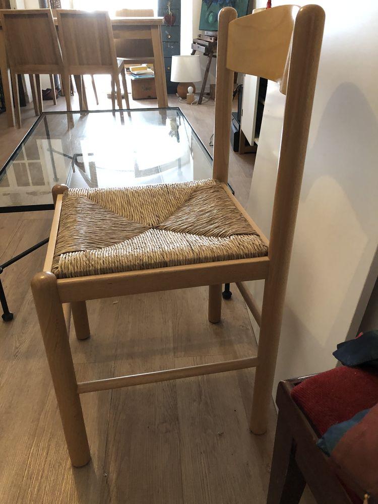 4 chaises pin verni et rotin 150 Issy-les-Moulineaux (92)