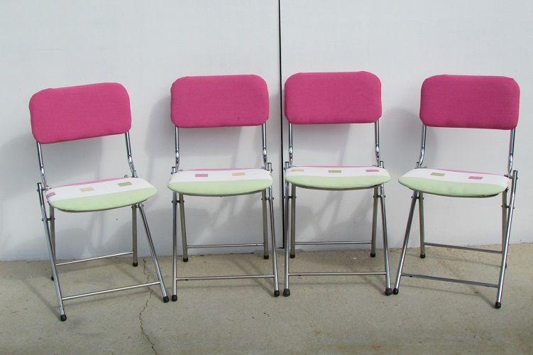 4 chaises vintage pliables Eyrel , des années 60 250 Paris 17 (75)