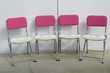 4 chaises vintage pliables Eyrel , des années 60