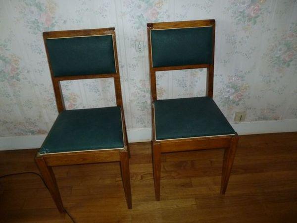 Achetez lot de 2 chaises occasion annonce vente ambillou 37 wb147753600 - Chaises vintage occasion ...