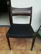 4 chaises vintages années 1960 en skaï Meubles
