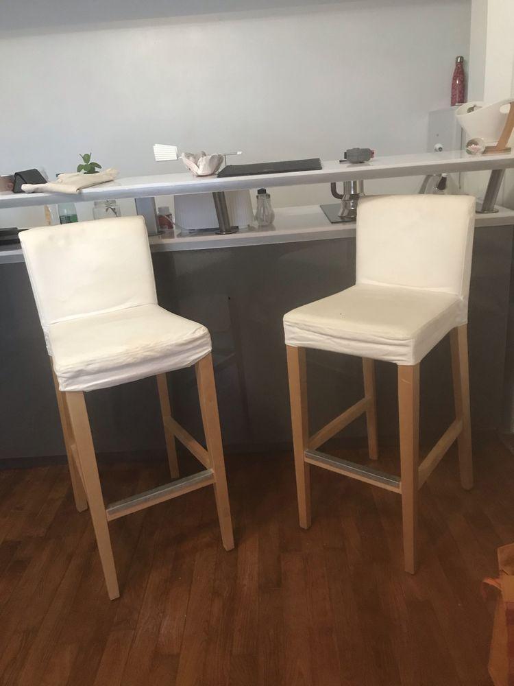 Lot de 2 Chaises de bar Meubles