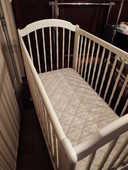 Chambre bébé en bois laqué blanc 250 Trélivan (22)