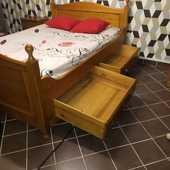 Set de chambre en Bois de Chêne PUR vernis ¤ Design rustique 250 Bobigny (93)