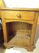 Chambre complète bois massif chêne : lit + sommier + chevets Meubles