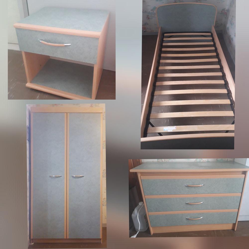 Chambre complète  (Lit, table de chevet, armoire, commode) 380 Rochefort (17)