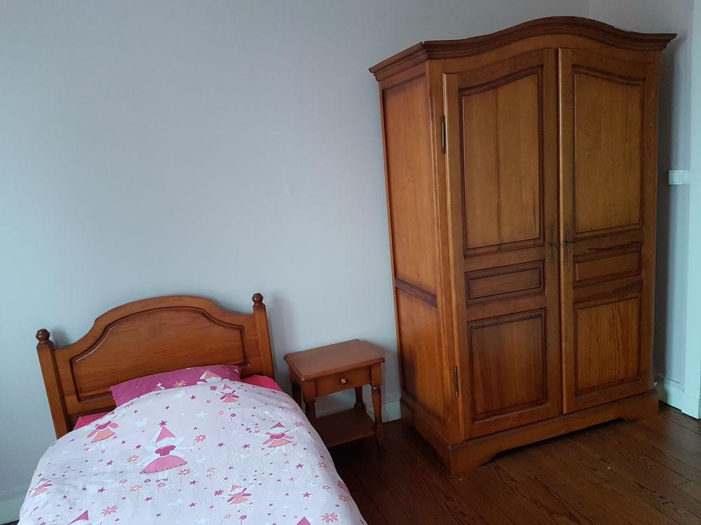 Chambre à coucher pin massif 1 personne 150 Mimizan (40)