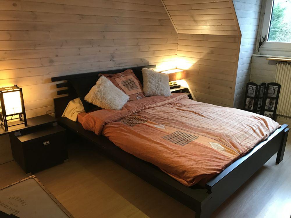 Chambre à coucher moderne de style asiatique