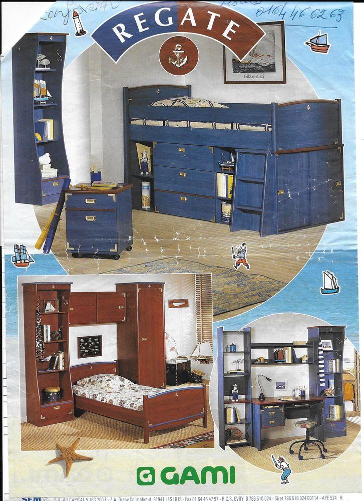 Chambre Ado- GAMI- modèle Régate Bleu; Lit, Commode , Bureau 190 La Celle-les-Bordes (78)