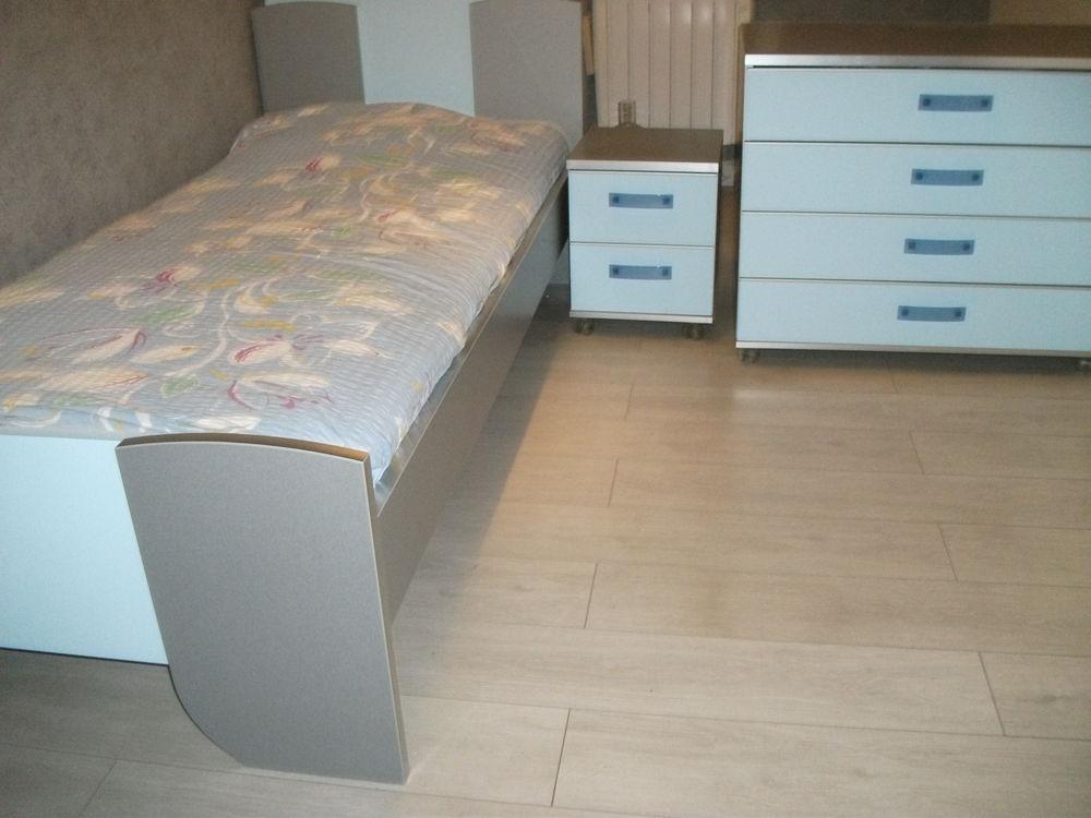 Chambre Gauthier LIT Modulable 190x90/200/90 Bleu clair/gris 150 Villemoisson-sur-Orge (91)