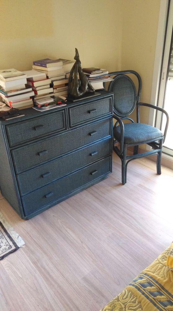 Chambre  rotin verni bleu  200 La Baule-Escoublac (44)