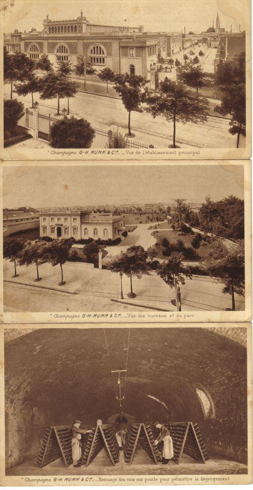 CP Champagne Mumm avant les bombardement de Reims en 1914. 8 Tinqueux (51)