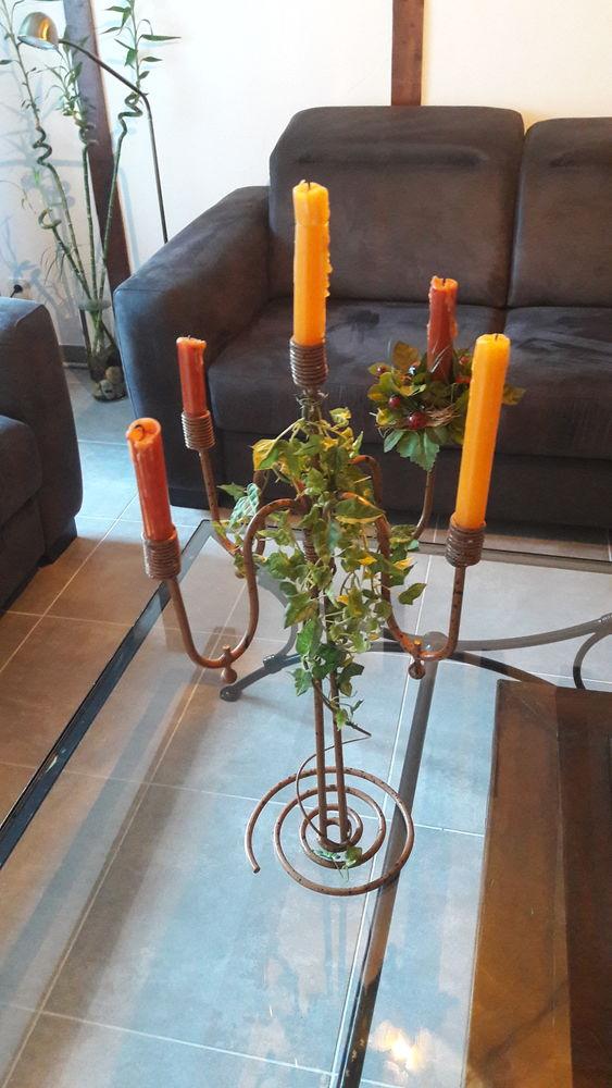 chandelier en fer forgé émaillé 15 Labenne (40)