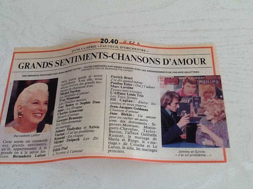 DVD CHANSONS D'AMOUR enregistré télé 4 Saint-Etienne (42)