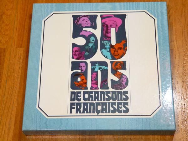 50 ANS DE CHANSONS FRANCAISES - Coffret 9 vinyles 8 Gap (05)