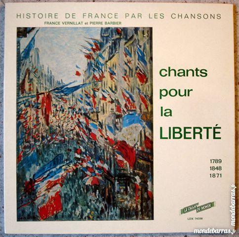 CHANTS POUR LA LIBERTÉ 1789-1848-1871 - ALBUM 33t CD et vinyles