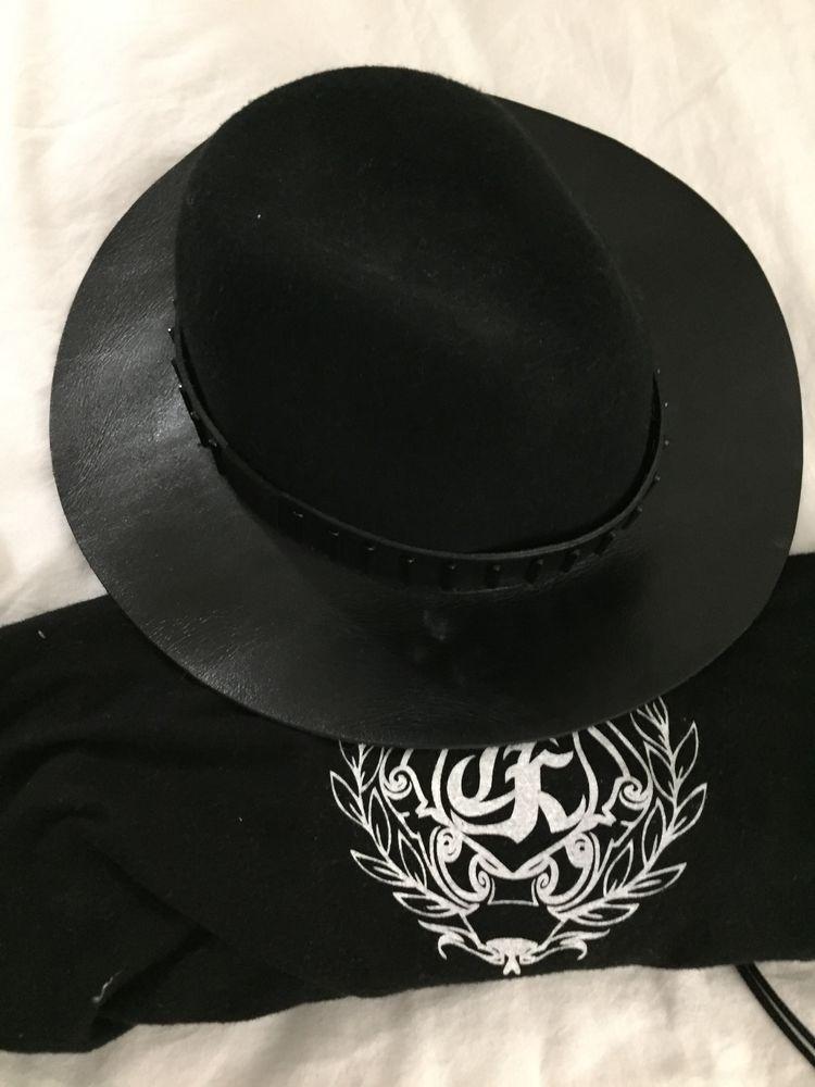Chapeau noir et cuir The Kooples Vêtements