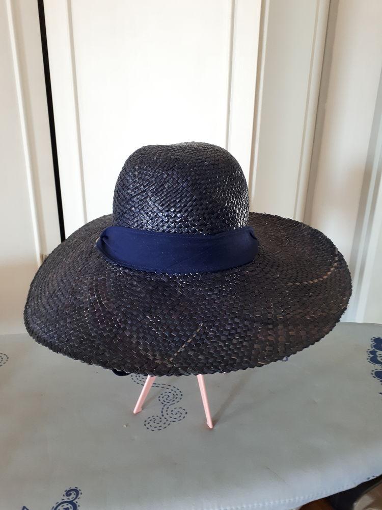 Chapeau paille bleu marine tour de tête 56 - 5 euros 5 Villemomble (93)