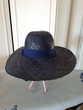 Chapeau paille bleu marine tour de tête 56 - 5 euros