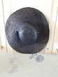 Chapeau paille bleu marine tour de tête 56 - 5 euros Vêtements