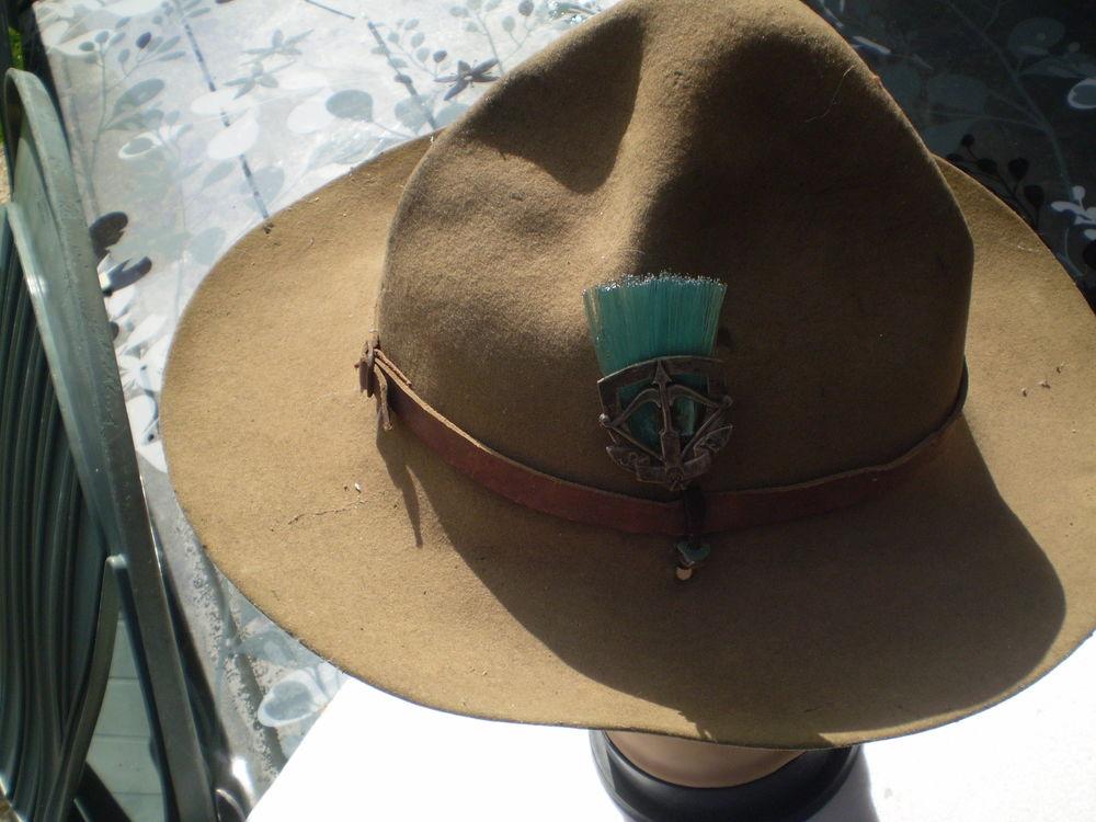 chapeau scout chef section,bon état 80 Dozulé (14)