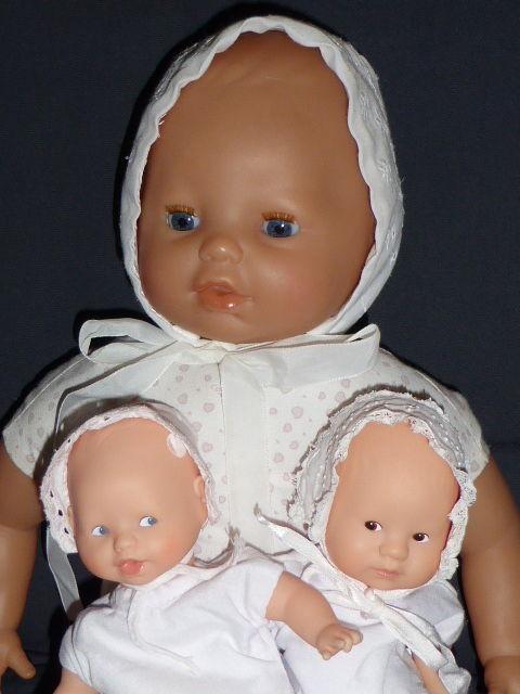 Lot de 3 chapeaux broderie pour poupée 20 et 42 cm 15 Rueil-Malmaison (92)