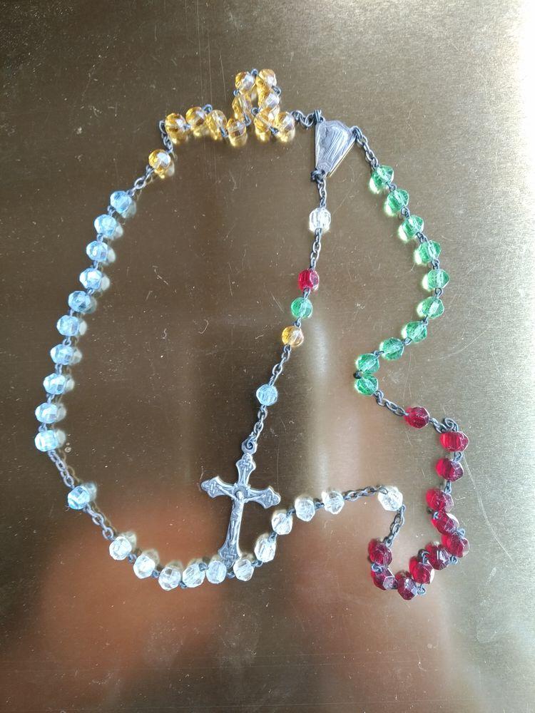 Chapelet perles de verre  15 Lyon 4 (69)