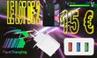 Lot de 2 Chargeurs rapide 3.0 USB trible charge, conception