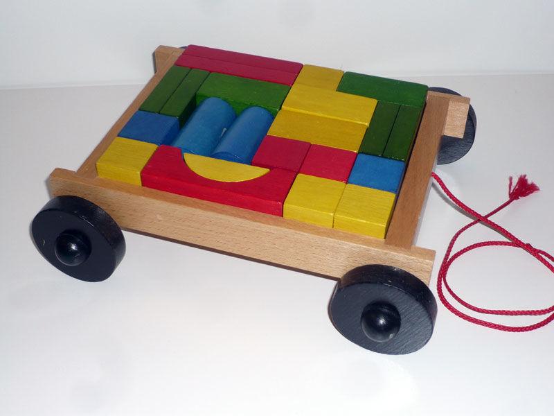 Chariot de blocs en bois colorés à traîner 10 Vincennes (94)