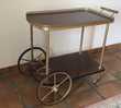 Chariot bar / desserte vintage formica et laiton Meubles