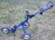 Chariot de Golf 3 Roues Bagboy Bleu en Très Bon État