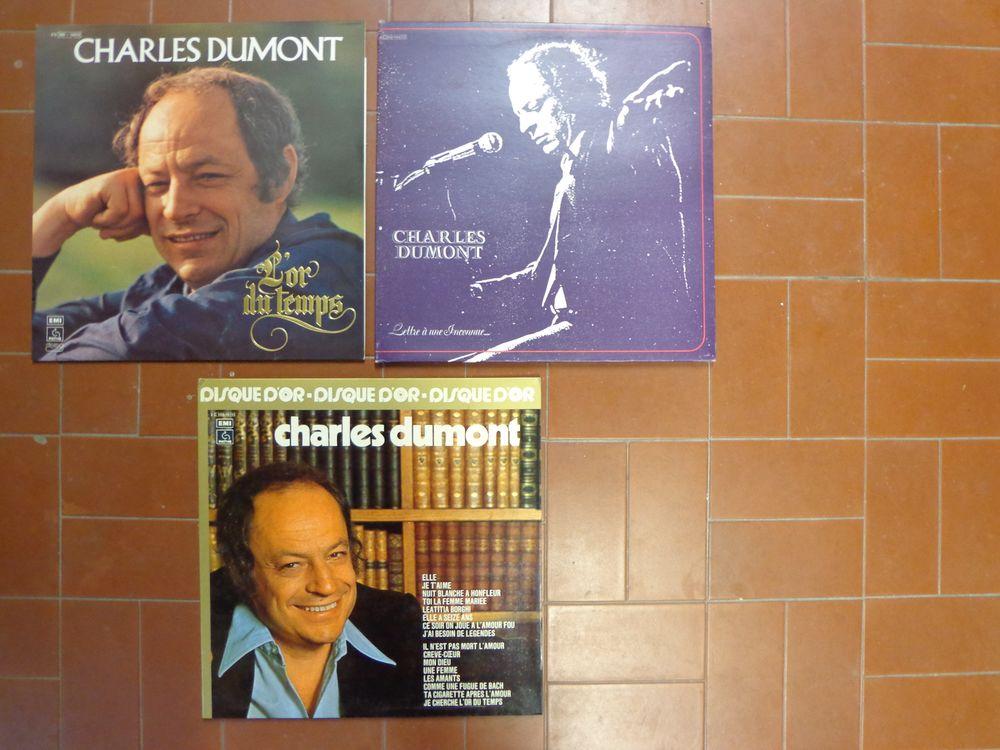 CHARLES DUMONT, 3 vinyles 4 Éragny (95)