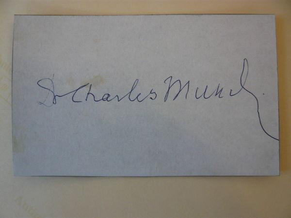 Charles Munch Autographe 10 Vendenheim (67)