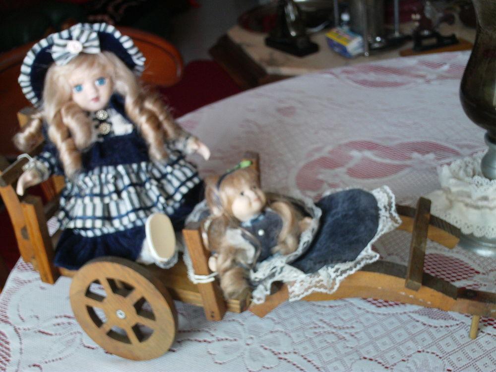 Sur charrette Jolies poupées anciennes N°281 10 Bragny-sur-Saône (71)